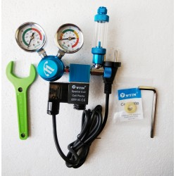 WYIN Dual Gauge CO2 Regulator with Solenoid & Bubble counter